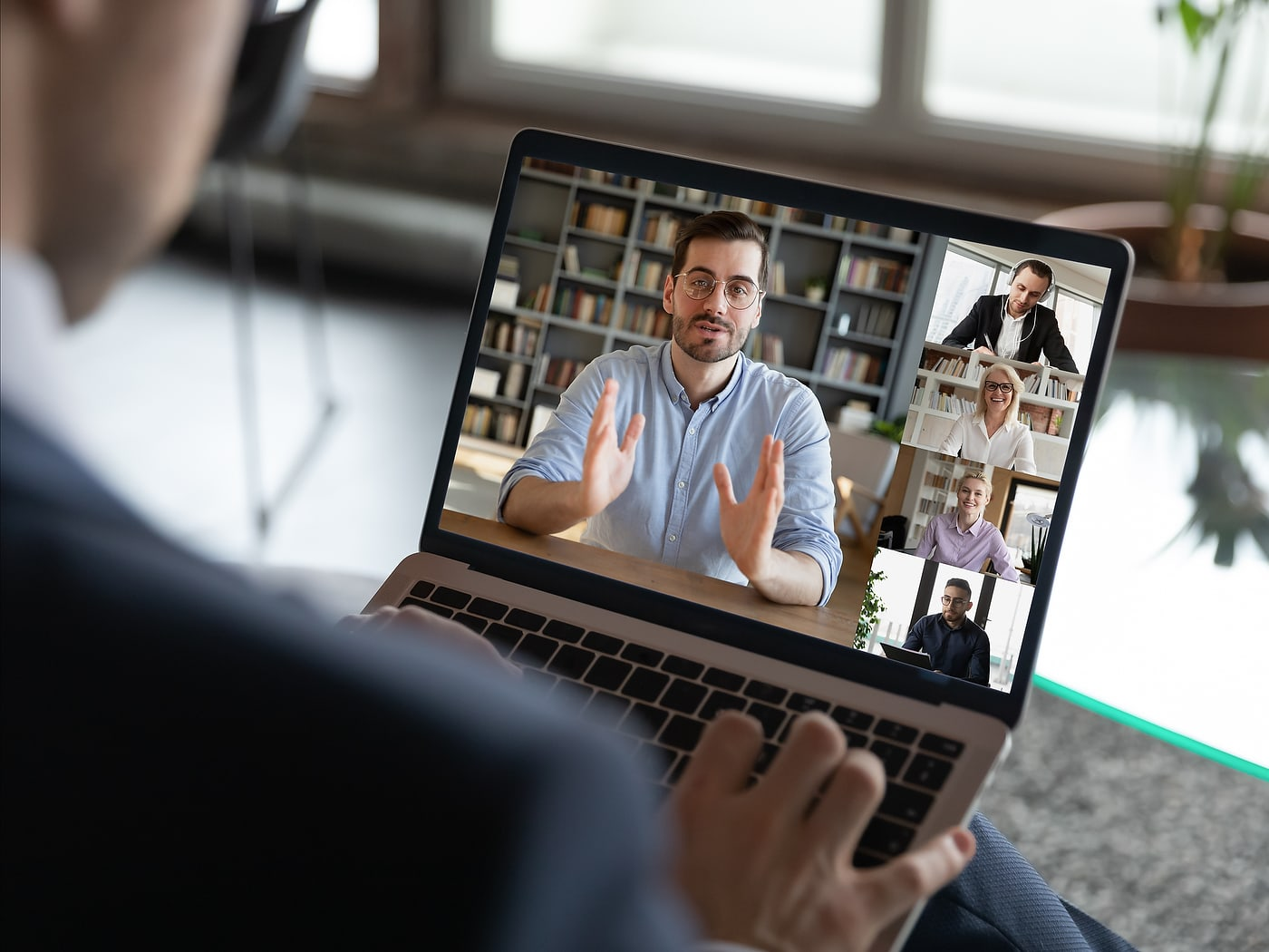 virtual event example using Zoom meeting