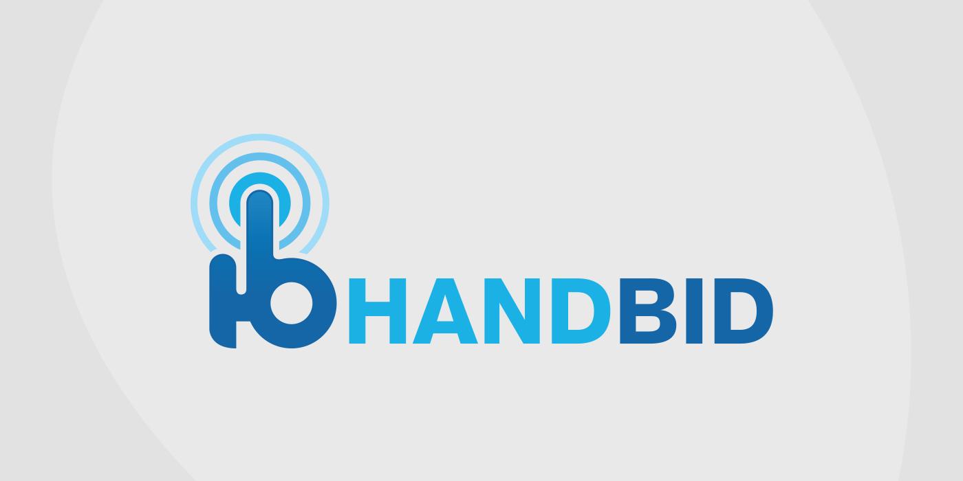 Logo for HandBid auction platform